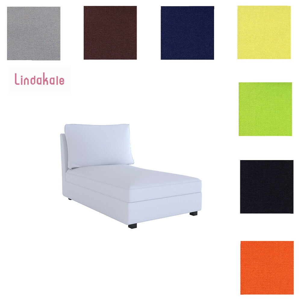 custom made cover fits ikea kivik chaise lounge replace cover ebay. Black Bedroom Furniture Sets. Home Design Ideas
