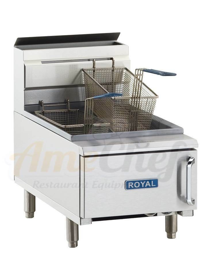 Gas Fryer With Griddle Gas ~ New commercial restaurant gas fryer countertop lbs