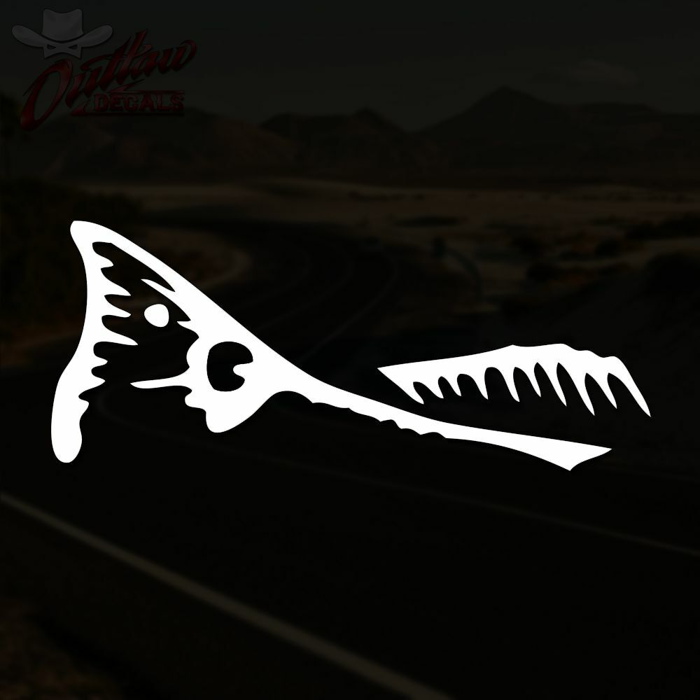 Red drum tail decal spottail fish fishing sticker pick for Free fishing decals