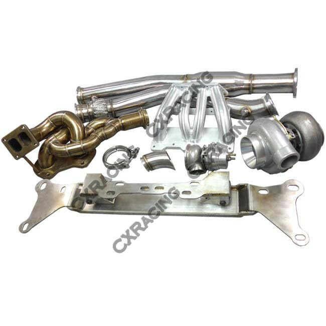 Docrace N54 Top Mount Single Turbo Kit: 13B Turbo Engine Mount Manifold Downpipe Intake MF Kit For