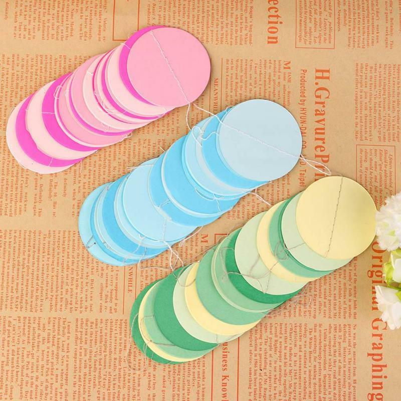 Paper garland strings circle wedding party baby shower for Advanced molding and decoration s a de c v