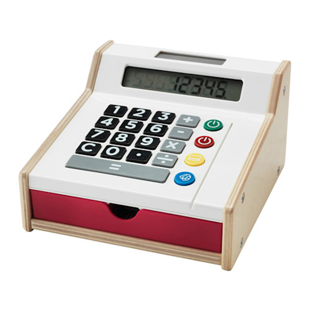 Toy Cash Register : Ikea duktig wooden toy cash register shop till with play