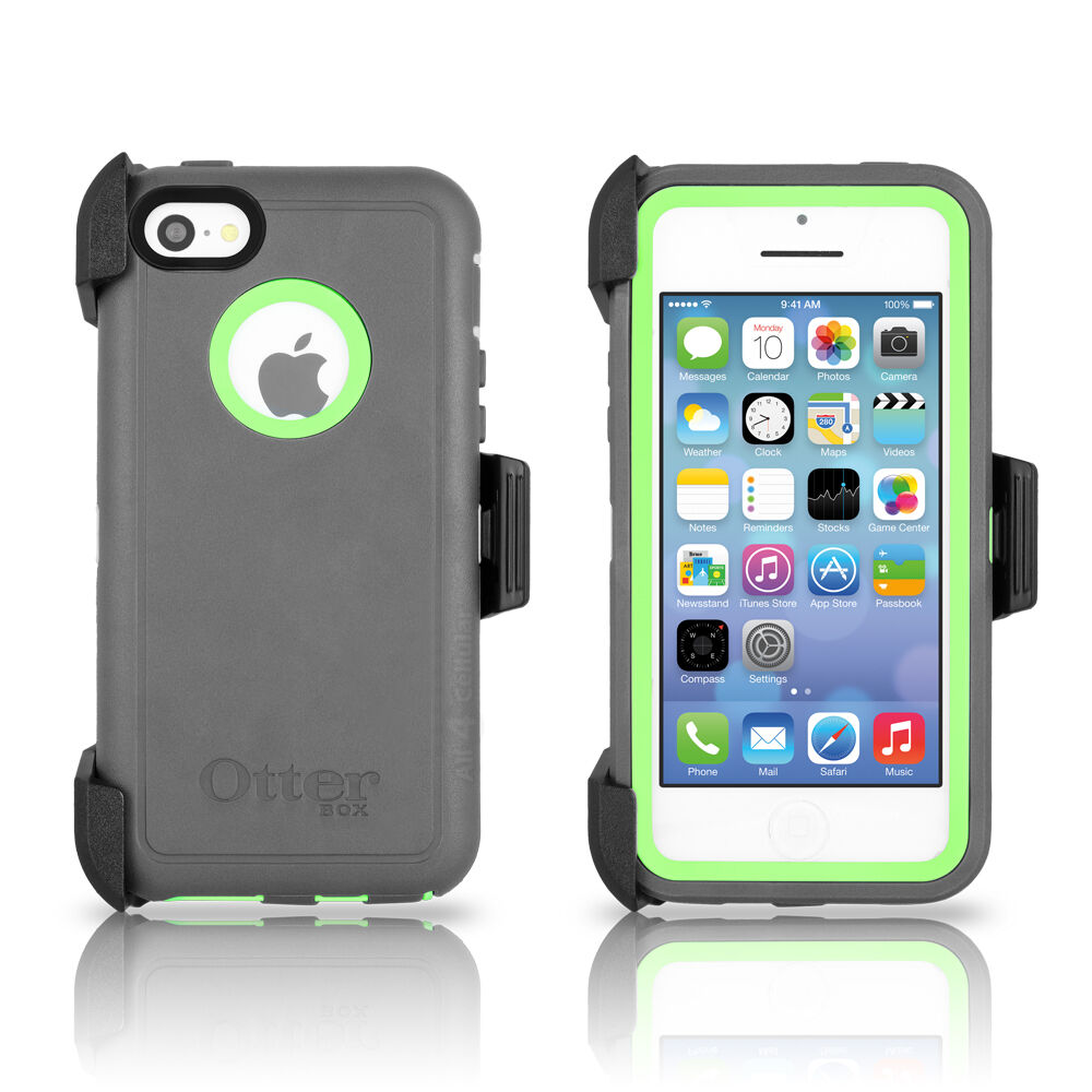 OtterBox Defender iPhone 5C Case & Holster Cucumber Green ...