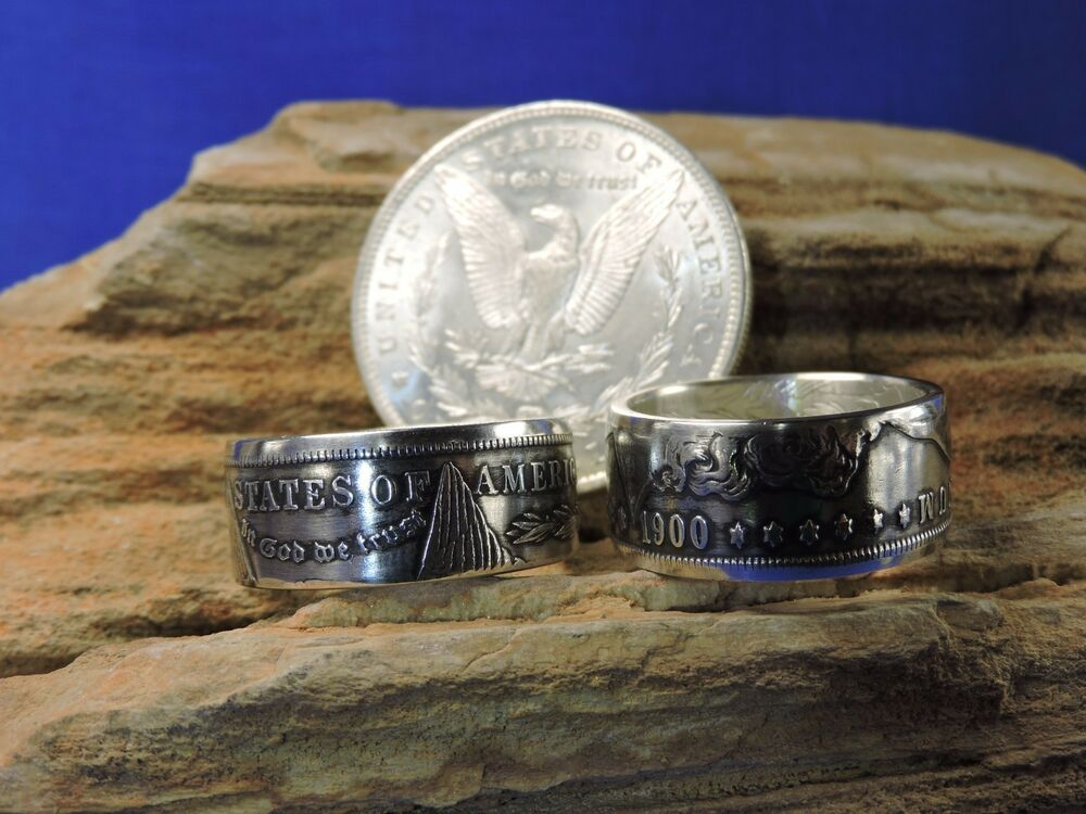 Morgan Silver Dollar Handmade Coin Ring Free Shipping