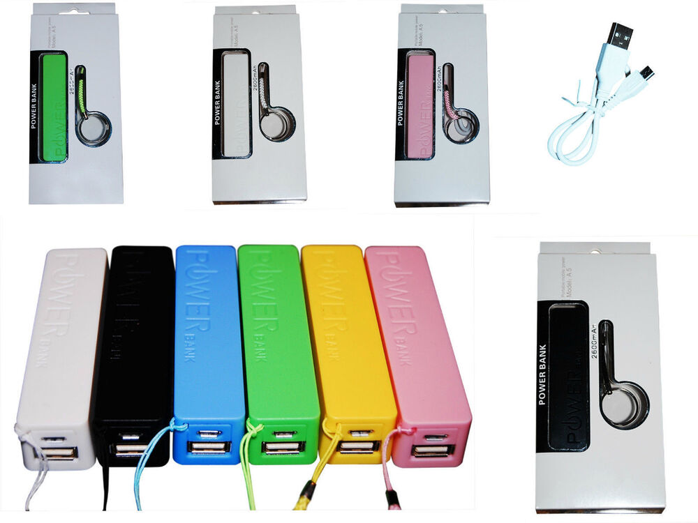 2600 mah power bank portable external battery charger works with any cell phone ebay. Black Bedroom Furniture Sets. Home Design Ideas