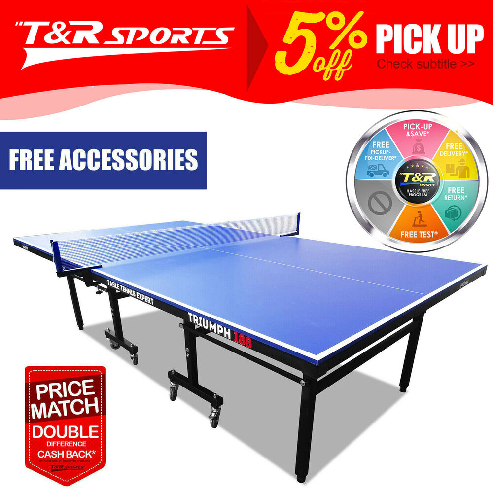 Double happiness outdoor ping pong table tennis table professional size table ebay - Dimensions of a table tennis board ...