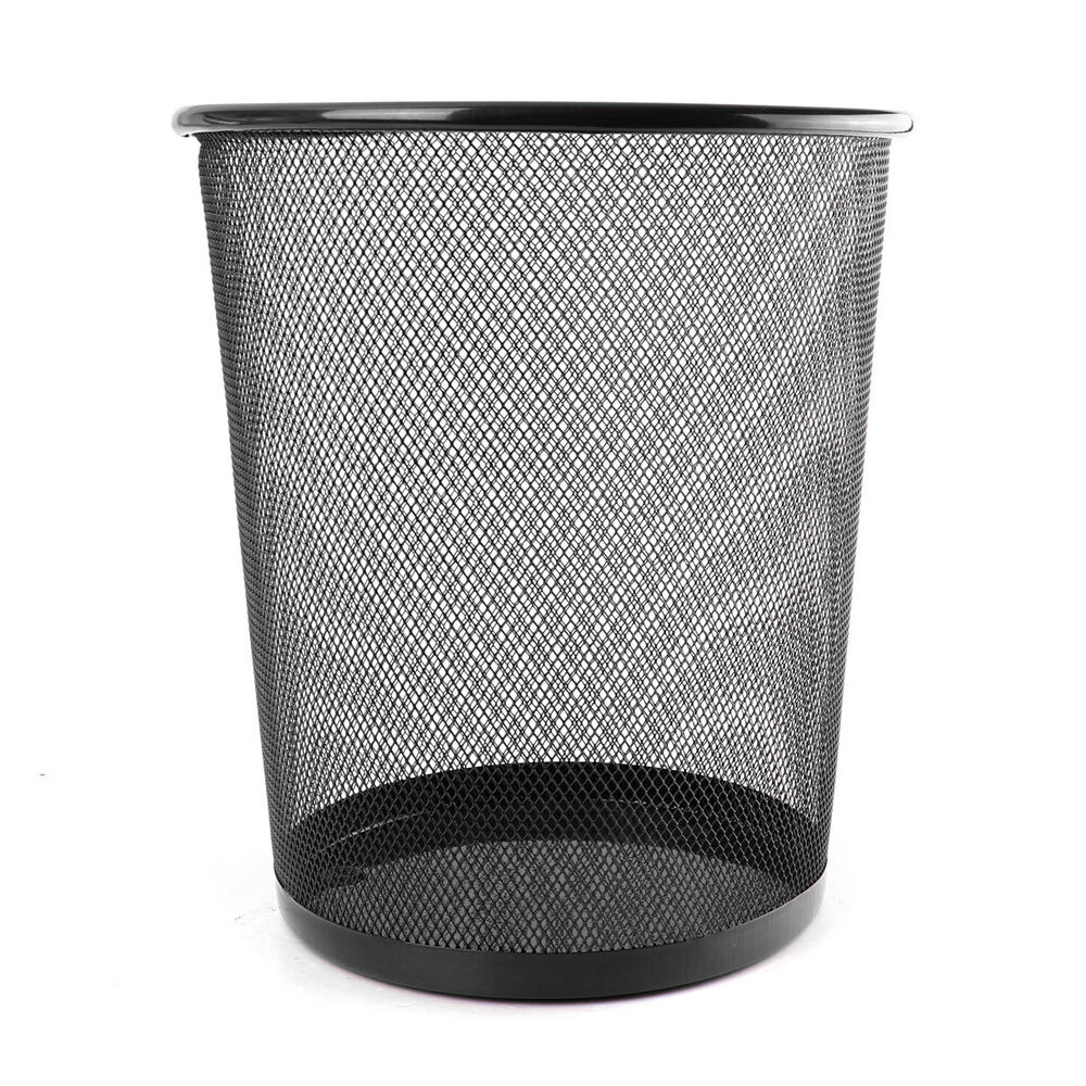 office can metal mesh waste bin wastebasket rubbish paper. Black Bedroom Furniture Sets. Home Design Ideas
