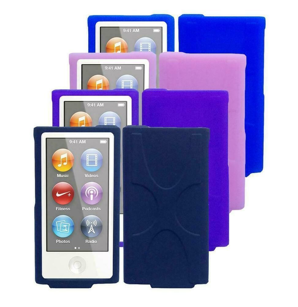 for apple ipod nano 7th generation soft silicone rubber. Black Bedroom Furniture Sets. Home Design Ideas