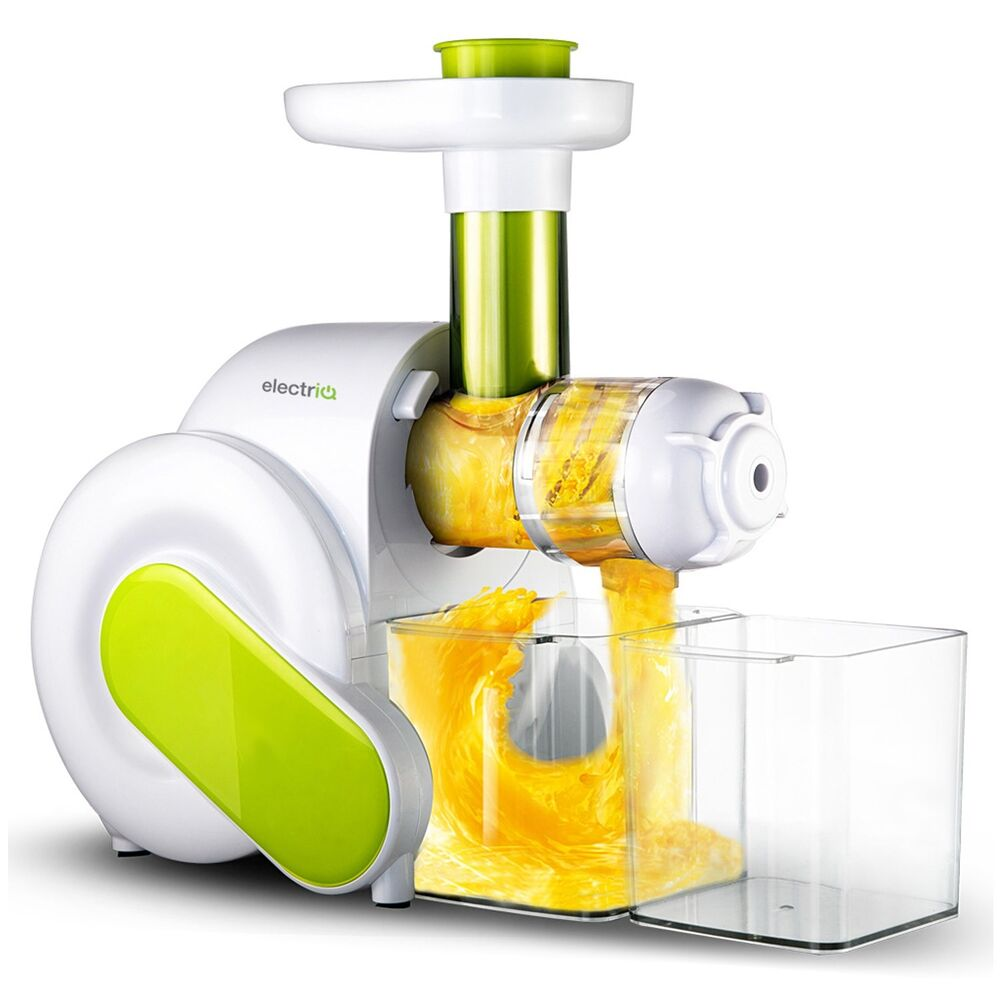 ElectriQ Horizontal Slow Masticating Juicer Fruit ...