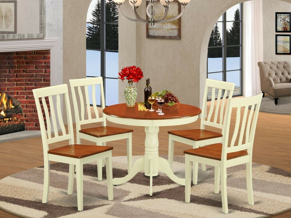 5pc Dinette Kitchen Set 36 Quot Round Pedestal Table 4