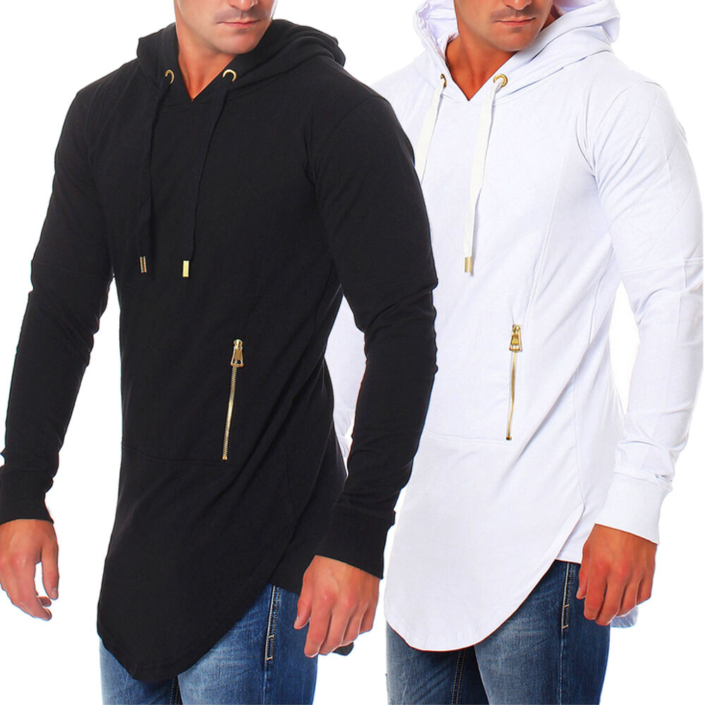 rerock herren sweatshirt kapuze pullover oversize long sweater rr 22202 ebay. Black Bedroom Furniture Sets. Home Design Ideas