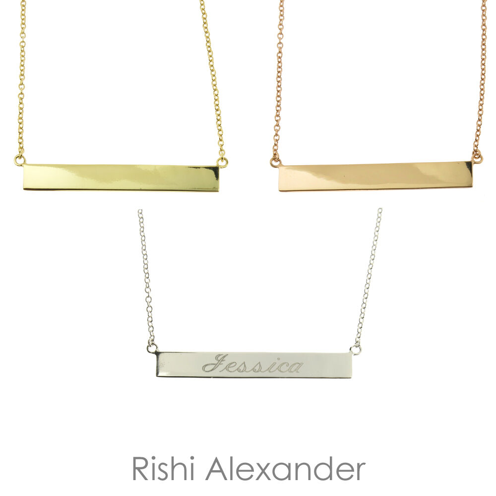 Personalized 925 Sterling Silver Horizontal Bar Name. Unique Bangle Bracelets. Bead Stud Earrings. Feathered Necklace. Style Watches. Turtle Necklace. Changeable Earrings. Black Rhodium Wedding Rings. Dome Pendant
