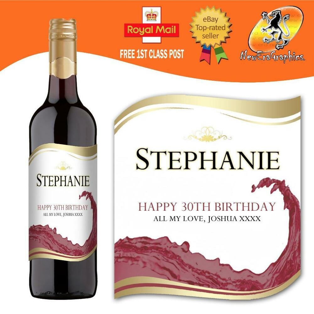 It is an image of Dynamic Personalised Red Wine Label