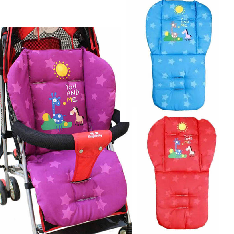 new baby infant stroller cushion pad giraffe car seat pad cotton thick mats ebay. Black Bedroom Furniture Sets. Home Design Ideas