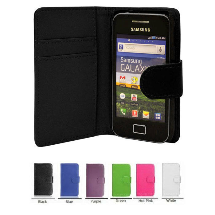 new wallet leather case phone cover for samsung galaxy ace gt s5830 gt s5830i uk ebay. Black Bedroom Furniture Sets. Home Design Ideas