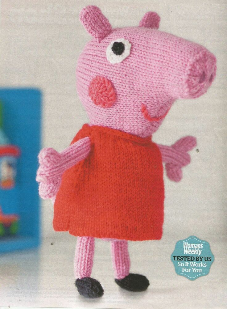 Knitting Patterns Peppa Pig Toys : Knitting pattern Peppa Pig soft toy eBay