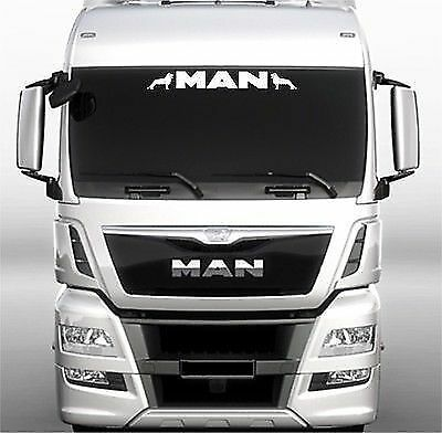 man truck screen sticker decal for lorry cab windscreen glass ebay. Black Bedroom Furniture Sets. Home Design Ideas