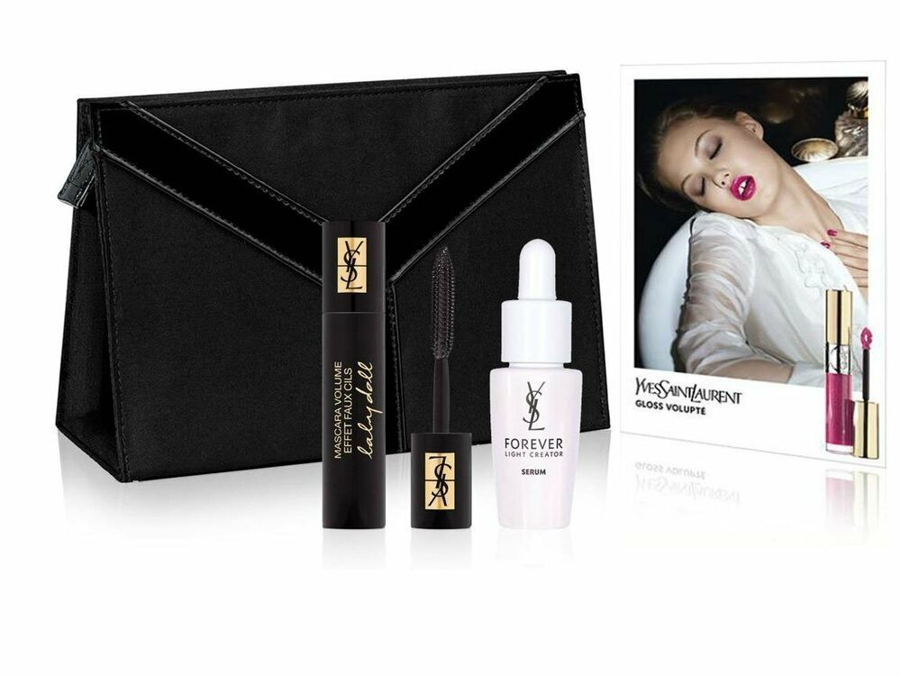 yves saint laurent cosmetics makeup bags with travel size. Black Bedroom Furniture Sets. Home Design Ideas