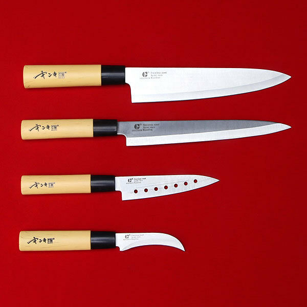 4pcs knife set kitchen cutlery bone japanese chef knives for Japanese fish knife