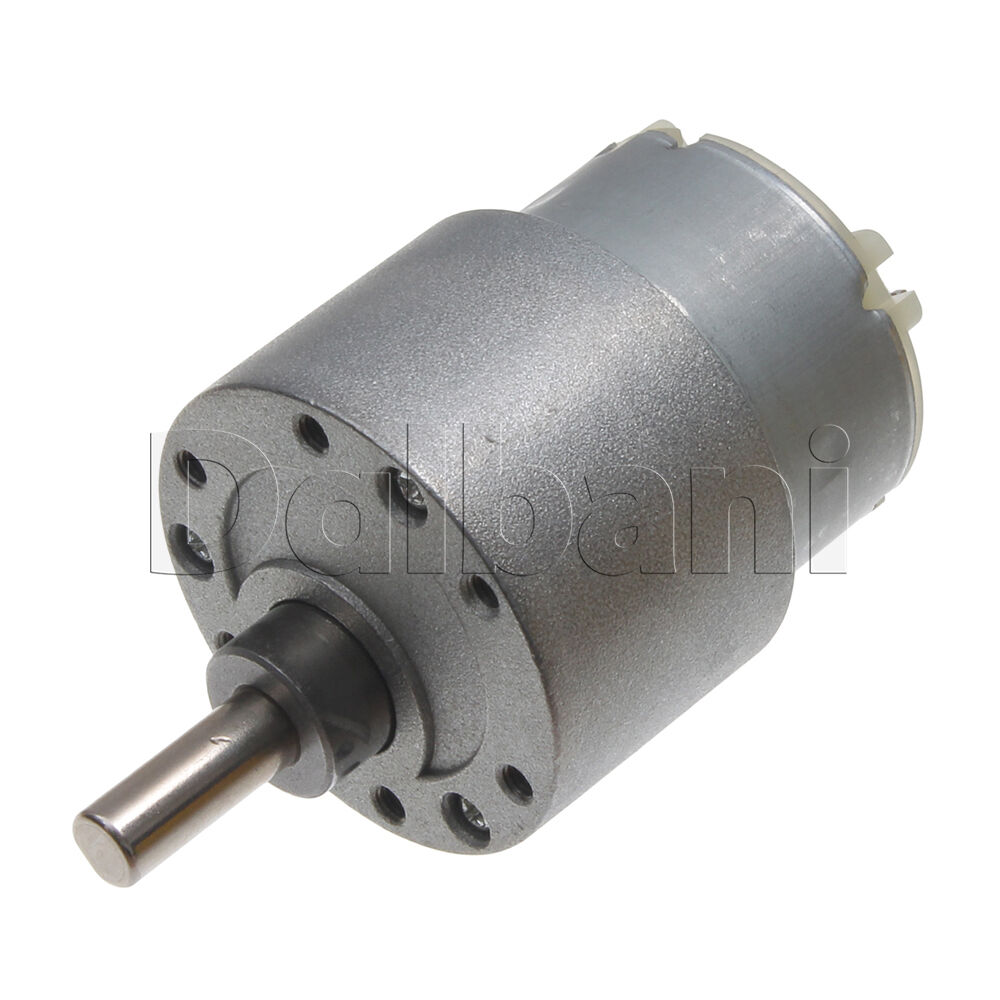 12v dc 60 rpm high torque gearbox electric motor ebay