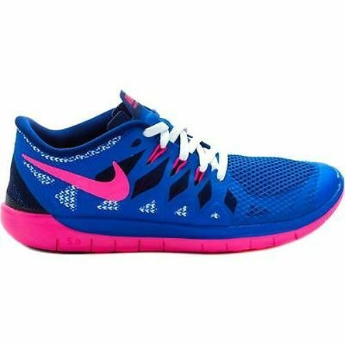 Details about New Nike Youth Free Run 5 GS Shoes (644446-400) Royal Blue  Pink 73b22076c