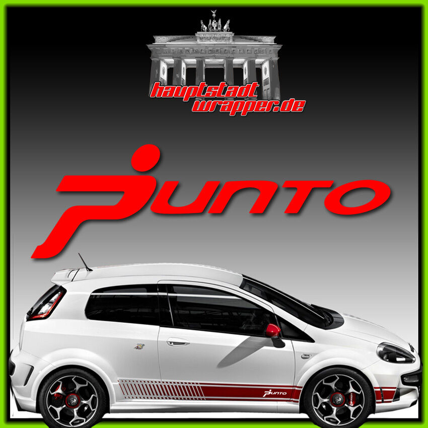 fiat abarth grande punto scorpion 500 side stripe sticker. Black Bedroom Furniture Sets. Home Design Ideas