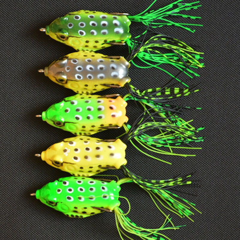 New frog lure bass fishing double hooks bait crankbaits for Topwater fishing lure