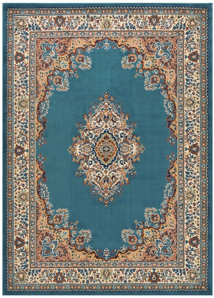Persian Madallion Blue Traditional Area Rugs Carpet 2x3