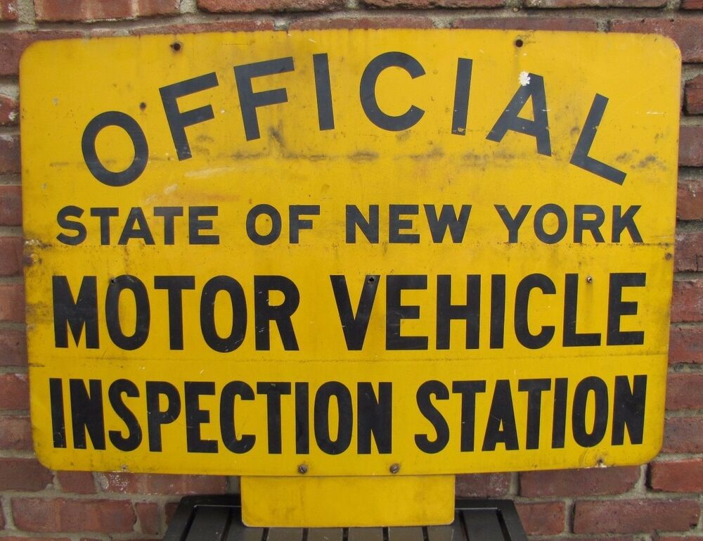 Vtg official state of new york motor vehicle inspection for Motor vehicle inspection nj