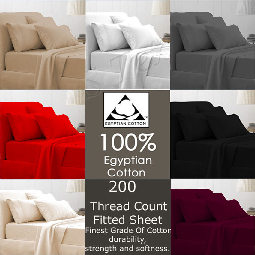 100 egyptian cotton t 200 thread count bed sheet fitted for What is thread count in sheets