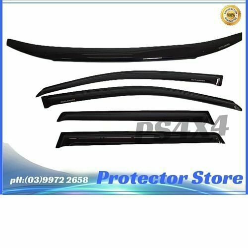 Mitsubishi Outlander ZJ-ZK 2012-2016 Bonnet Protector & Window Visors Weather Sh | eBay