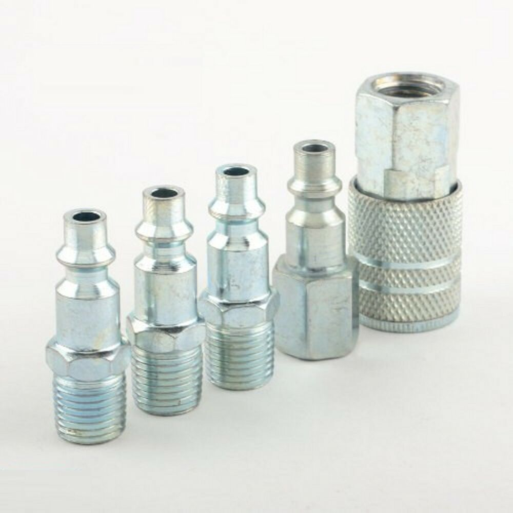 """5 Pc 1/4"""" NPT Zinc Air Couplers With Adapter Quick ..."""