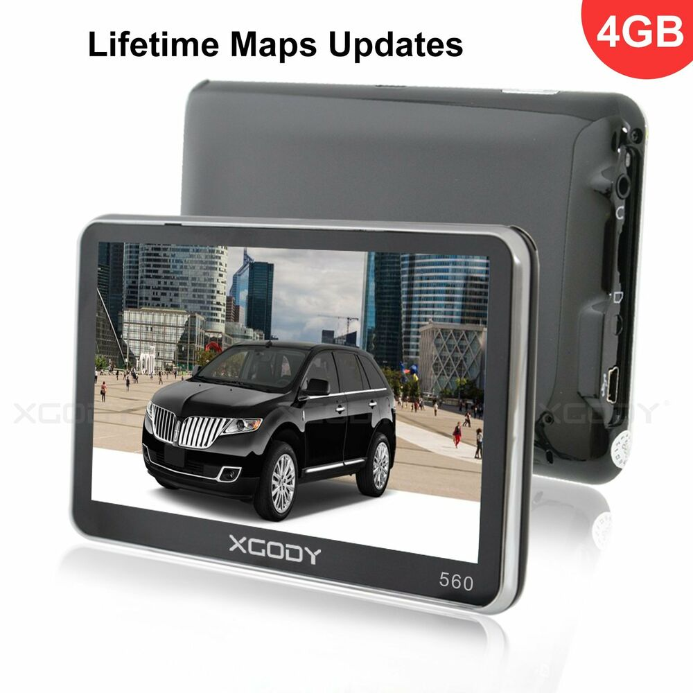 xgody 5 truck car gps navigation navigator 4gb with lifetime update free new map ebay. Black Bedroom Furniture Sets. Home Design Ideas