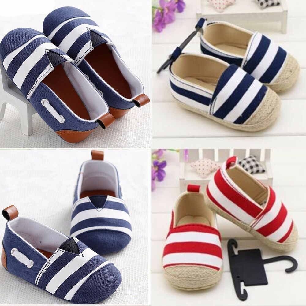 Baby Infant Toddler Shoes Boys Girls Canvas Soft Sole