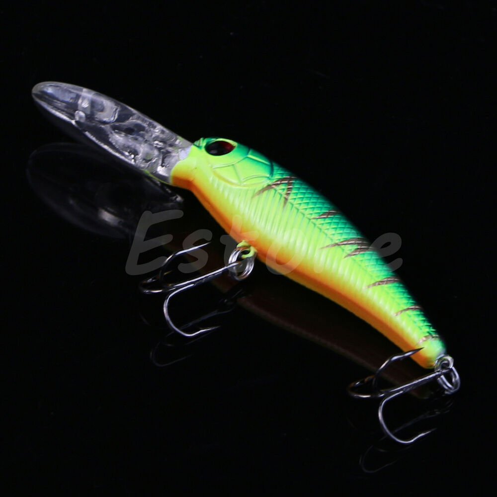 New 1pc plastic minnow fishing lures crank bait hooks for New fishing lures