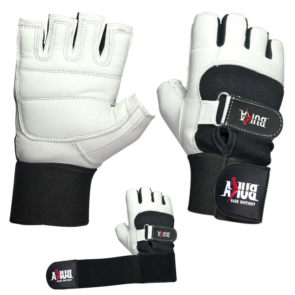 Weight Lifting Gloves Leather Fitness Gym Training Workout: BUKA WEIGHT LIFTING GYM GLOVES BODY BUILDING WORKOUT
