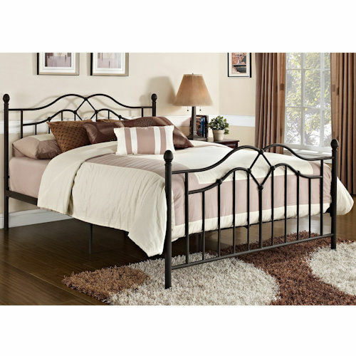 queen size bed frame metal headboard footboard bedroom furniture platform modern ebay. Black Bedroom Furniture Sets. Home Design Ideas