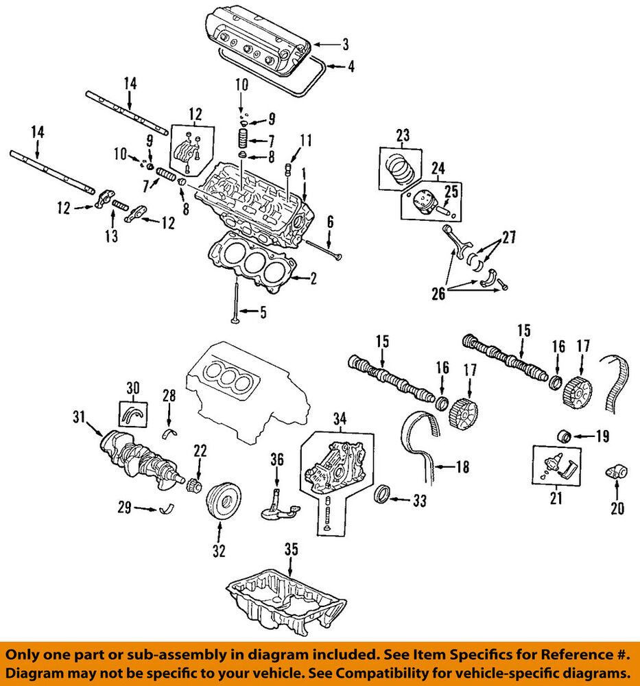 ACURA HONDA OEM Engine Parts-Valve Cover Gasket Right 12341RCAA01 |