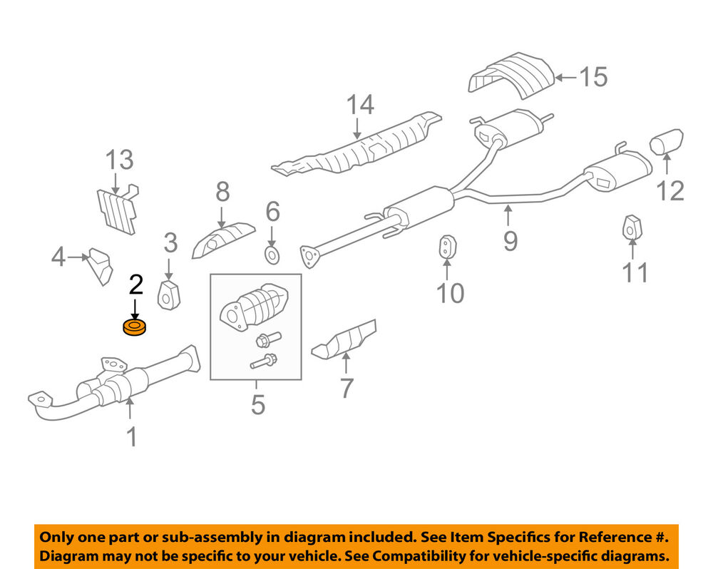 Acura Honda Oem 18212 Sa7 003 Exhaust Pipe To Manifold Gasket Ebay 2007 Rdx Engine Diagram