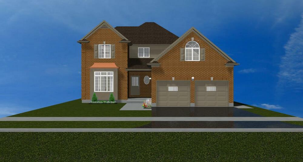 Beautiful 2 Story Brick House Plan 2940 Sf Ebay