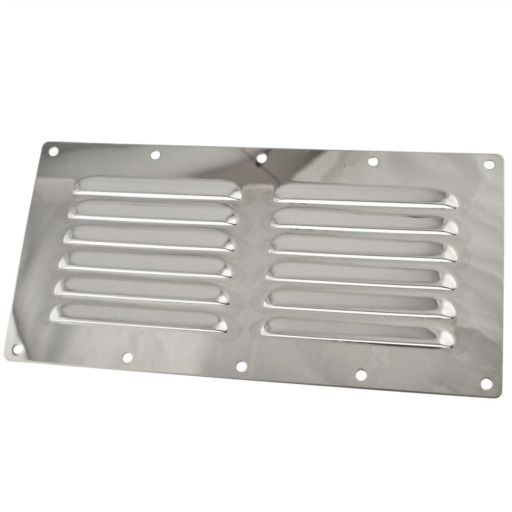 Stainless Steel Air Grille : Stainless steel louvre vent air ventilator grill mm
