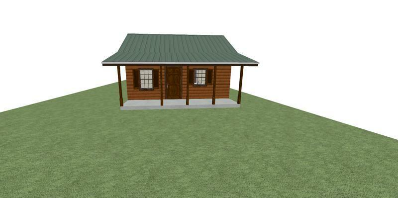 Tiny house plan ready to build 1 story 368 sf for 18x40 frame
