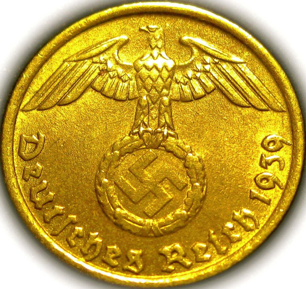 Germany - German 3rd Reich 1939D Gold Colored 5 ...