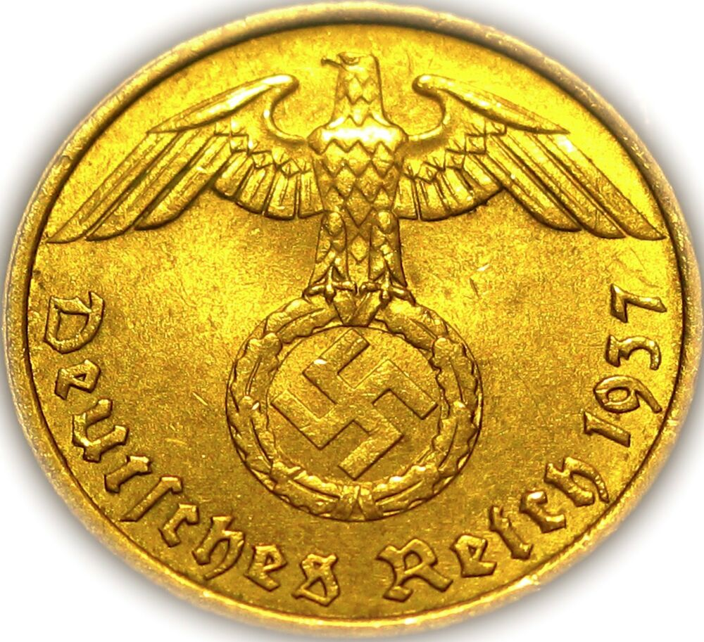 Germany German Third Reich 1937a Gold Colored 5