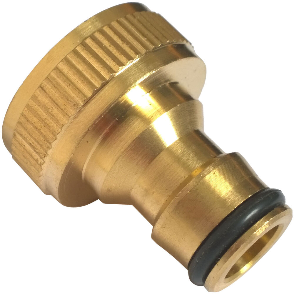 Brass hose tap connector quot threaded garden water pipe