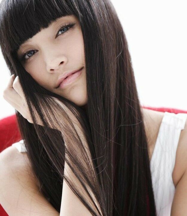 Kroea style sexy womens long straight hair cosplay party full bangs