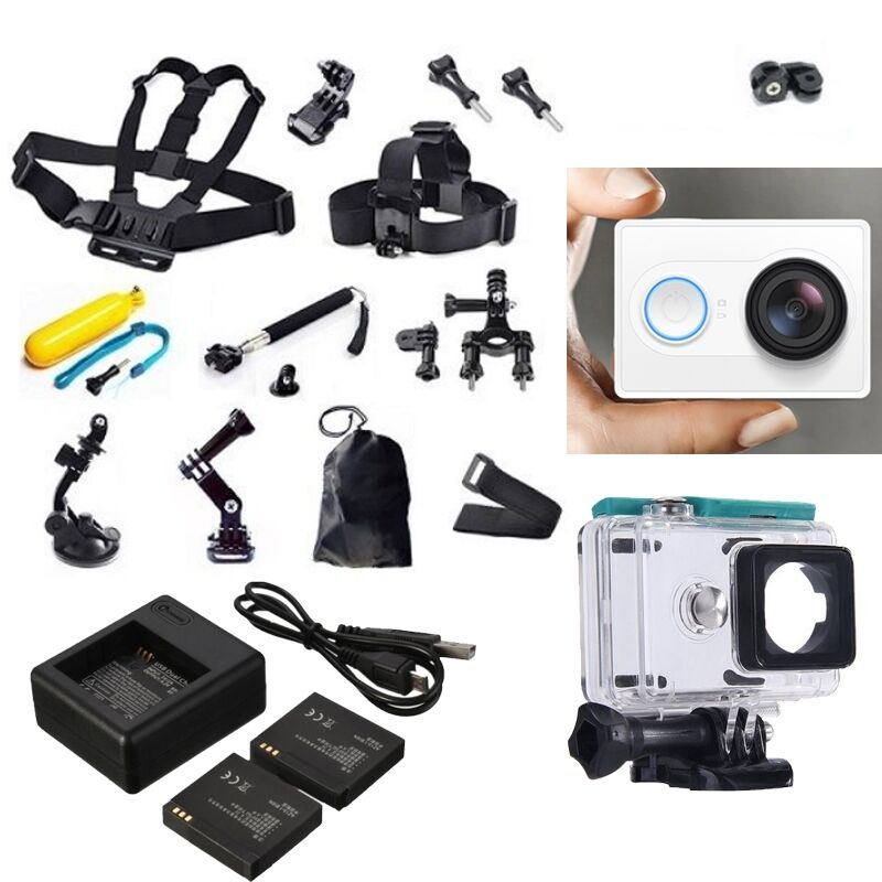Xiaomi Yi Sports Action Camera Accessories Kit Dual Charger Battery Case Belt Ebay