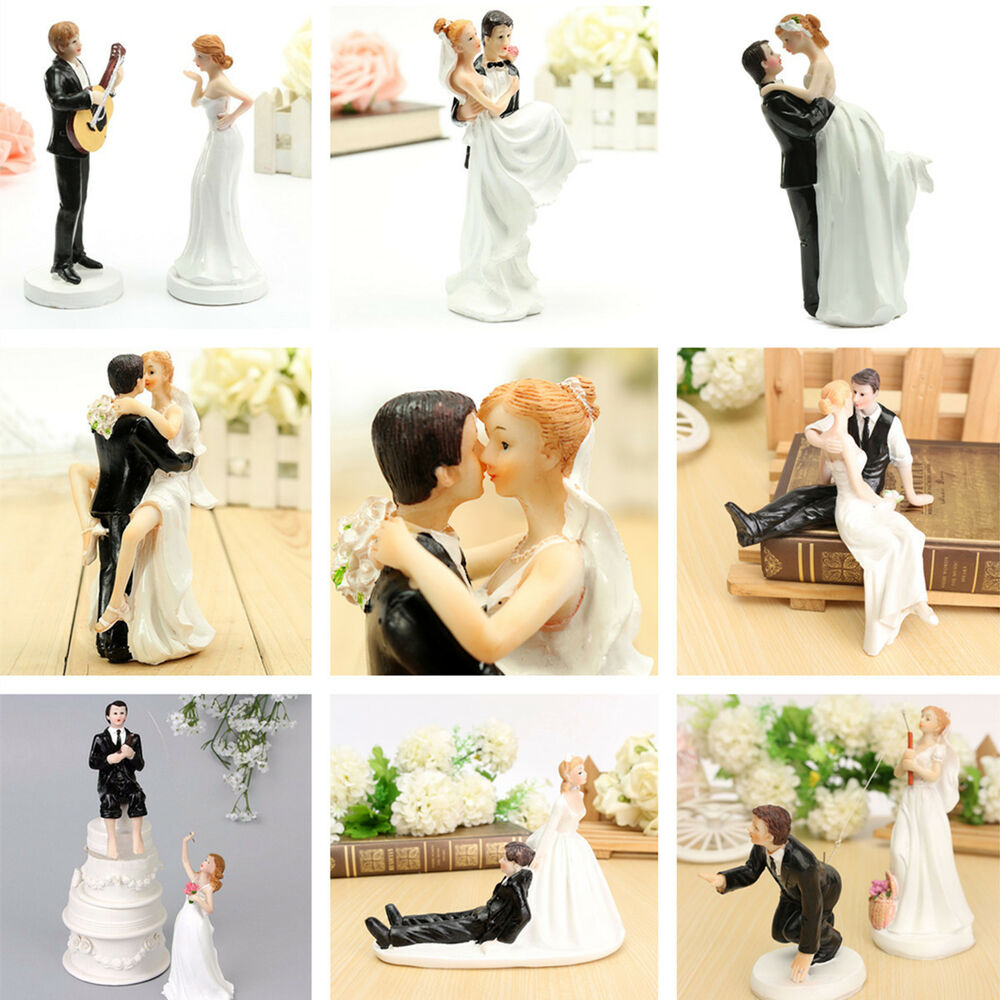 Bride Wedding Cake Topper: Bride Groom Resin Wedding Cake Topper Couple Figurine