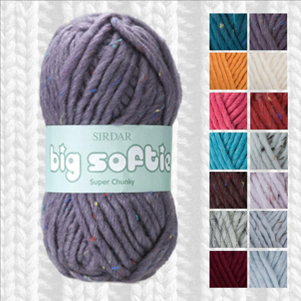 SIRDAR BIG SOFTIE SUPER CHUNKY YARN - ALL SHADE OPTIONS - FROM 1/2 PRICE eBay