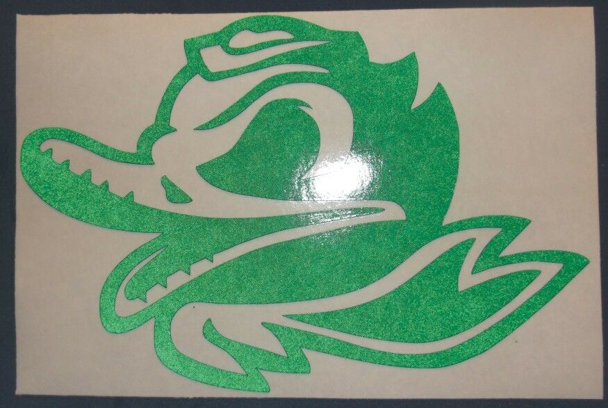 Oregon Ducks Logo With Wings Decal Oregon Ducks Combat Duck Decal